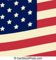 American flag, USA flag. Vector illustration.
