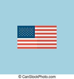 american flag, vector
