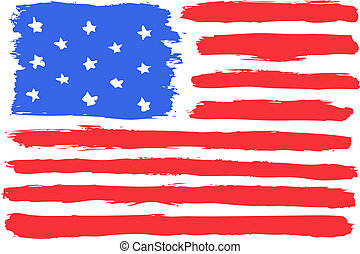 American flag, vector illustration