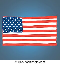american flag vector USA