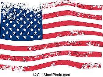 American Flag vector - American Flag grunge