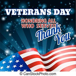 American Flag Veterans Day Background