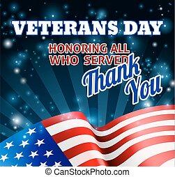 American Flag Veterans Day Background