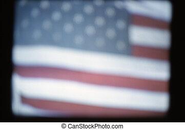 American flag, video still