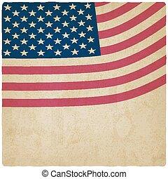 American flag vintage background