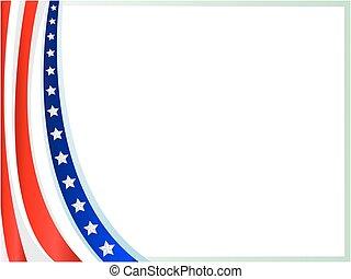 American flag wave frame