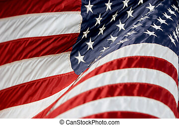 American Flag Waving 3 - Flag of the United States waving in...