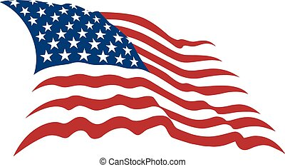 american flag - Waving American Stars and Stripes made in...