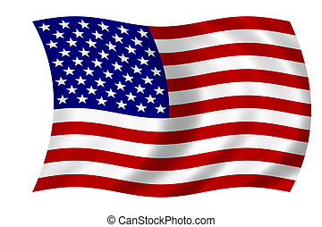 Waving flag USA - american flag