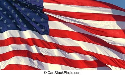 American Flag Waving In United States Of America