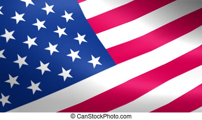 American Flag Waving Seamless Loop