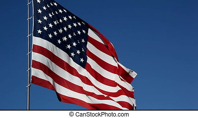 American Flag Waving - Video Taken with Canon EOS 5D Mark II...