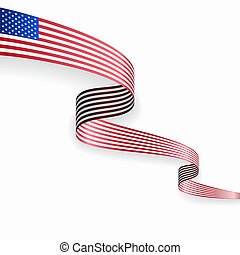 American flag wavy abstract background. Vector illustration.