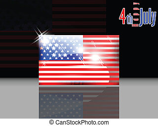 American flag with 4th of July with
