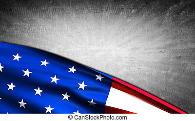American flag with copyspace