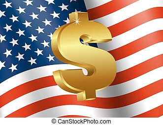 American Flag with Dollar Sign