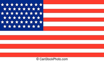 american flag with fifty stars