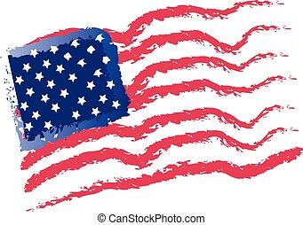 American flags vintage logo