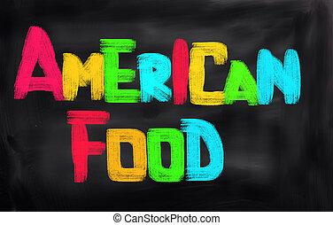 American Food Concept