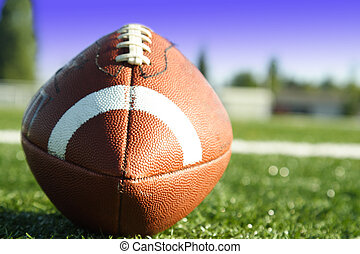 American football - A shot of an american football on a...