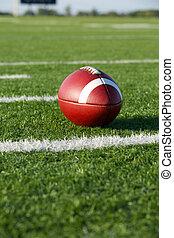 American Football along the Yard Lines