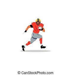American football athlete. Vector Illustration.