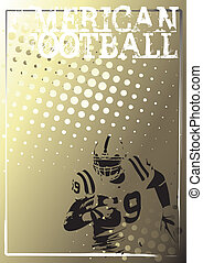 american football background 3 - running player of the...
