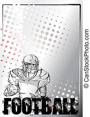 american football background 5 - sketching of the american...