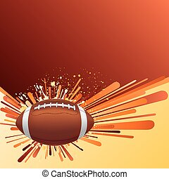 american football background - vector background of american...
