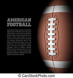 American football background with room for text