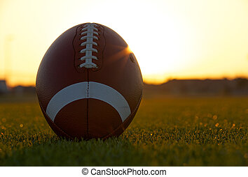 American Football Backlit by the sun
