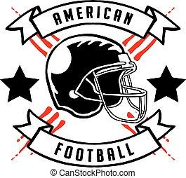 American Football Badge Hand Draw