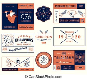 American football badges and crests vol 1 colored