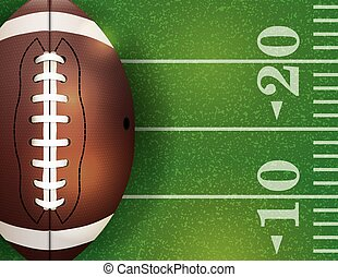 American Football Ball and Field Illustration - An...