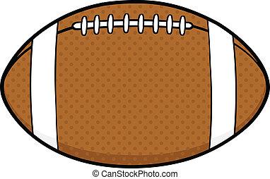 American Football Ball Cartoon Illustration