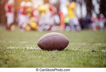 American football - ball