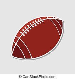 American football ball icon. Vector illustration