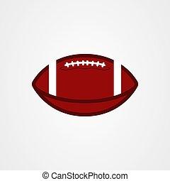 American football ball icon vector illustration