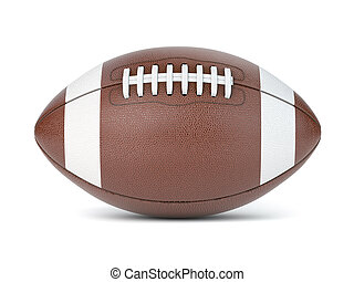 American football ball isolated on white background.