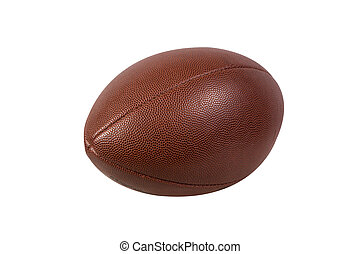 American football ball isolated on white background