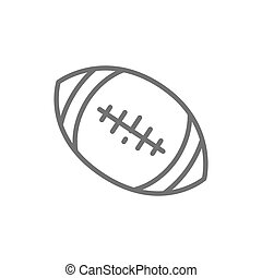 American football ball line icon.