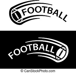 american football ball motion line symbol - illustration for the web