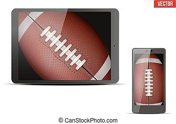 American Football Ball on gadgets - American Football Ball...