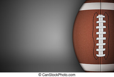 American Football Ball on Gray