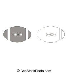 American football ball  set  icon .