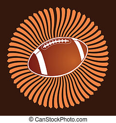 american football ball vector art