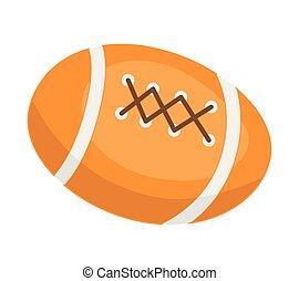 American football ball vector cartoon illustration