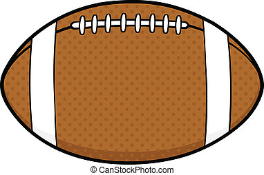 American Football Ball Cartoon Illustration