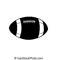 American football ball vector icon