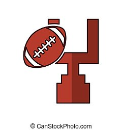 american football balloon with arch icon